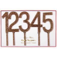 cake topper numbers gold numbers cake toppers by meri meri junior edition