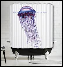 Nautical Bathroom Curtains Blue Jellyfish Shower Curtain Nautical Shower Curtain Marine