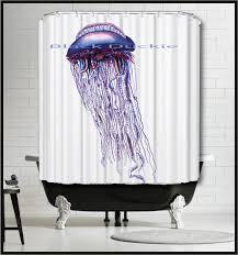 Nautical Shower Curtains Blue Jellyfish Shower Curtain Nautical Shower Curtain Marine