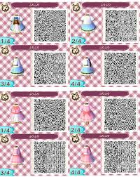 cutesy blue and pink dress animal crossing qr codes pinterest
