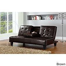 Click Clack Sofa Bed by Amazon Com Hodedah Pu Upholstered Armless Click Clack Sofa Bed