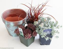 succulent planter diy copper patina clay pot succulent planter the happy housie