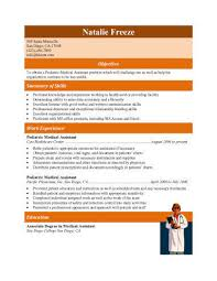 Pictures Of Sample Resumes by 16 Free Medical Assistant Resume Templates