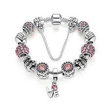 bracelet charm pandora images Buy carina sterling silver stunning pink friendship beed charm jpg