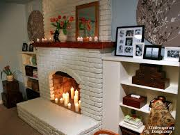color to paint brick fireplace