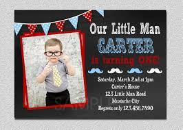 Mustache Home Decor by Little Man Birthday Invitation Little Man Mustache 1st