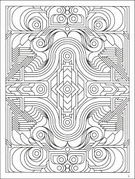 highly detailed printable coloring page of geometric pattern for