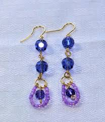 tanzanite earrings tanzanite earrings beadnwirejewelry