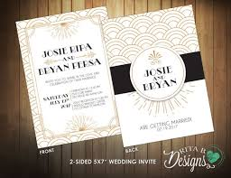 gatsby wedding invitations top 5 great gatsby wedding invitations refined yet raucous