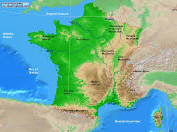 English Channel Map France Physical Map A Learning Family