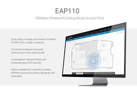 Ceiling Mount Wireless Access Point by Tp Link Eap110 300mbps Wireless N Ceiling Mount Access Point