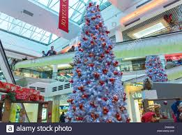 paris france christmas decorations inside shopping mall in stock