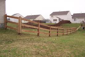 exterior design natural wooden split rail fence for yard railing