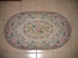 Vintage Bathroom Rugs Vintage Latch Hook Yarn Rope Thread Area Bathroom Kitchen Oval