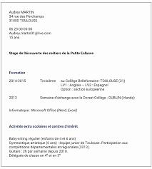 11 Exemple De Cv 3eme Stage 3e Comment Envoyer Sa Candidature