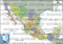 Mexico Political Map by Geoatlas Countries Mexico Map City Illustrator Fully