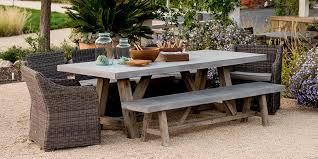 concrete patio dining table concrete outdoor furniture a stylish and smart addition for your patio
