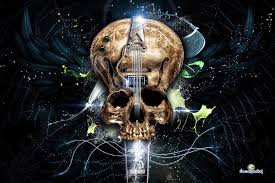 guitar skull by oscargrafias on deviantart
