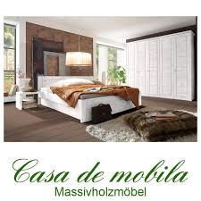 landhaus schlafzimmer weiãÿ massivholz schlafzimmer rauna komplett mit bett 200x200 kiefer