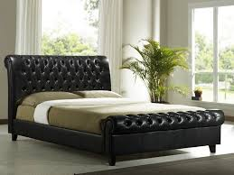 King Size Leather Sleigh Bed King Leather Sleigh Bed Home Design Ideas