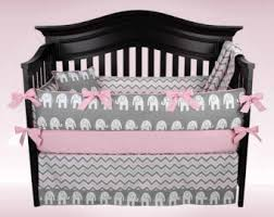 Pink Chevron Crib Bedding Baby Blanket Pink Gray Elephant Quilt Blue Crib
