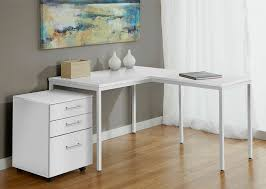 modern white filing cabinet modern white l shaped corner parson s desk with mobile file cabinet