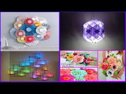 Paper Craft Decoration Ideas Top 10 Paper Crafts Paper Room Decor Ideas Diy Easy Party