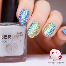mosaic spring nail art design idea