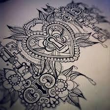 victorian keyhole drawing u003cb u003ekeyhole u003c b u003e heart tattoo pinterest