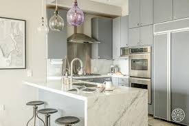 White And Gray Kitchen Cabinets by Gray Flat Front Kitchen Cabinets Contemporary Kitchen