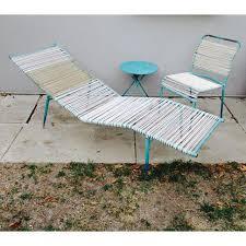 1960s Patio Furniture 1960s Surfline Walter Lamb Cord Patio Set S 3 Chaise Lounge