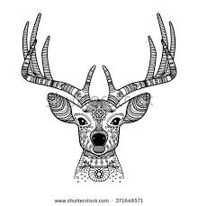 royalty free deer black ornamental icon with text 516049018
