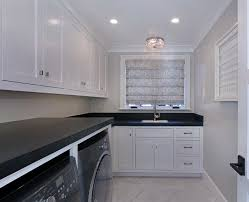 room with white cabinets painted in dunn edwards whisper white