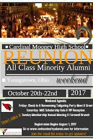 high school agenda 2017 minority alumni reunion cardinal mooney high school