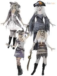 Zombie Halloween Costumes Adults Ladies Ghost Ship Zombie Pirate Costume Womens