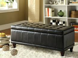 storage ottoman brown leather large size of brown leather ottoman