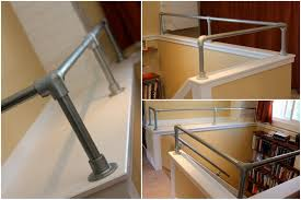 Banisters And Handrails Interior Industrial Pipe Handrail Simplified Building