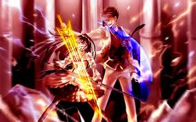 anime wallpapers girls sword fighting эрика фурудо anime anime style and pokémon