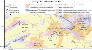 Arizona Map With Counties by Dismembered Porphyry Systems Near Wickenburg Arizona District