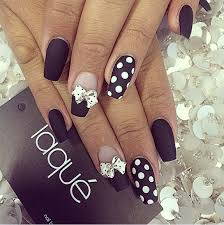 50 best black and white nail designs bow nail designs coffin
