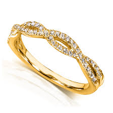 braided band diamond braided wedding band 1 6 carat ctw in 14k yellow