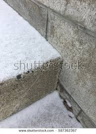 snowy cement stairs stock photo 587362367 shutterstock