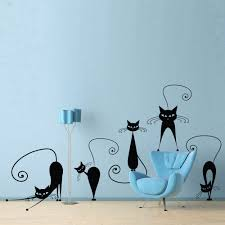 cat and butterfly wall sticker stickers charts black cats wall sticker removable vinyl diy decal ideal for any room the home