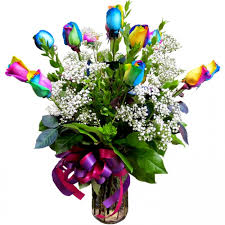 San Diego Flower Delivery Long Stem Rainbow Roses Products Local Florist In San Diego Ca