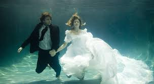 underwater wedding underwater portraits the tell tale