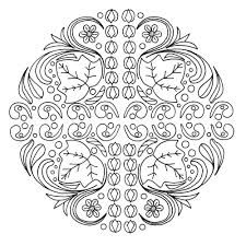 stress be gone mandala coloring page favecrafts com