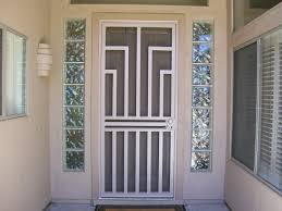 fancy security screen door on modern home interior design ideas