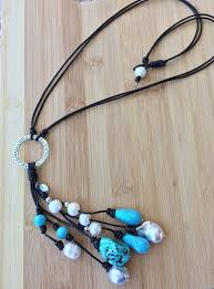 simple turquoise necklace images The azores handmade turquoise and baroque pearl necklace pearl jpg