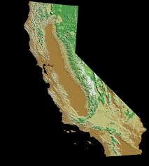 Blank Map California by California Relief Map