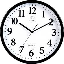 wall watch price review and buy dojana wall clock dwg291 black white ksa